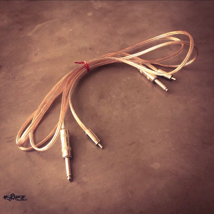 """RCA to 1/4"""" power cable"""