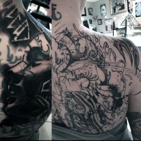 full back piece cover-up, process